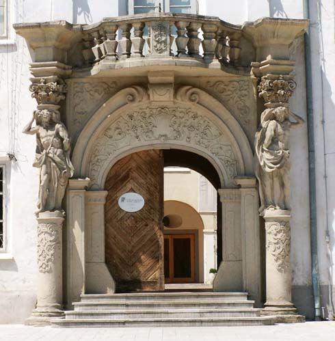 A muraszombati Szapáry-kastély kapuja